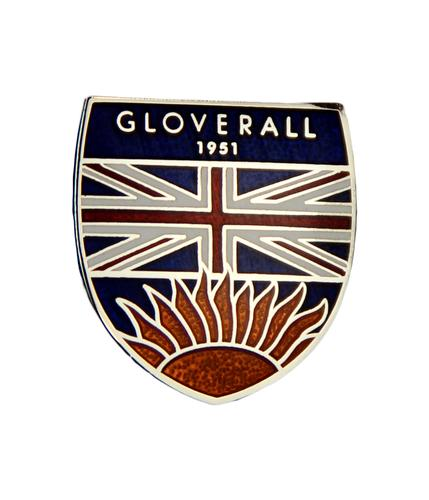 GLOVERALL RETRO MOD SHIELD LOGO PIN BADGE