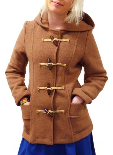GLOVERALL Freda 4210 Monty Boiled Wool Retro 60s Duffle Coat