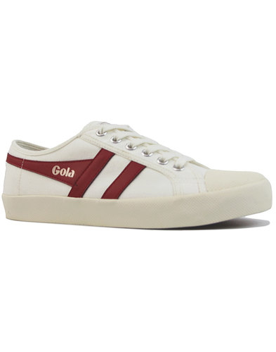 Coaster GOLA Mens Retro 70s Canvas Trainers (OW/R)
