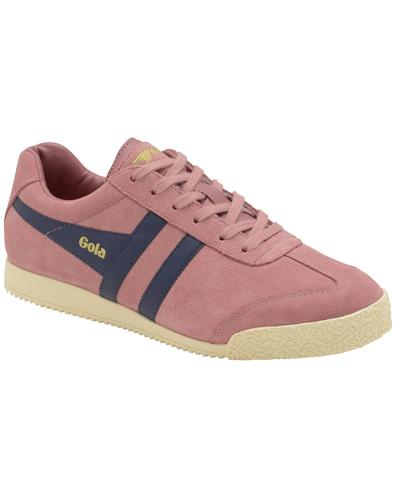 GOLA Harrier Womens Retro 70s Suede Trainers Rose