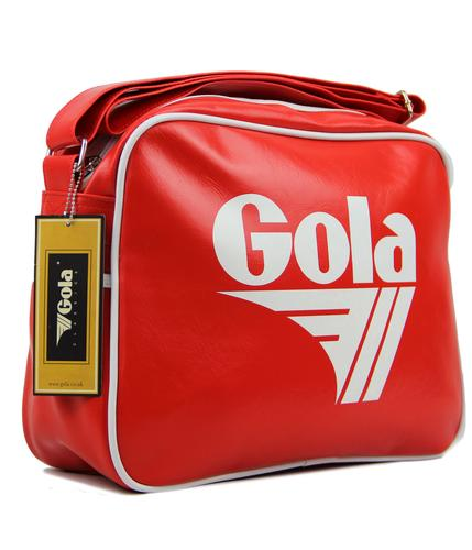 GOLA Redford Retro 70s Sports Shoulder Bag RED/WHT