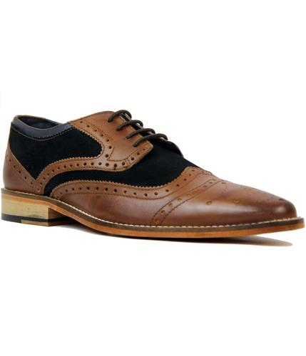 GOODWIN SMITH SHAW MOD SUEDE AND LEATHER BROGUES