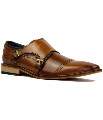 GOODWIN SMITH RETRO MOD MONK STRAP SHOES