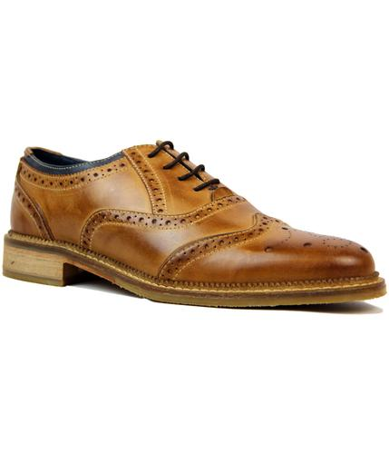 GOODWIN-SMITH-NEWLINE-RETRO-60s-MOD-BROGUES-TAN
