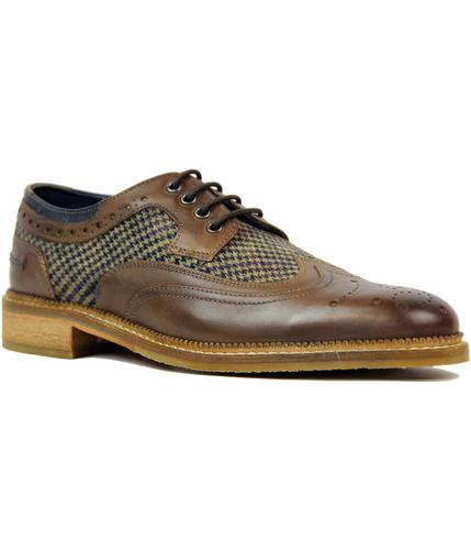 GOODWIN SMITH STEAD RETRO MOD TWEED GIBSON BROGUES