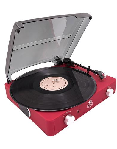 Stylo II GPO RETRO 1960s Mod Record Player - Red