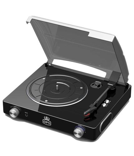 GPO RETRO RECORD PLAYER STYLE TURNTABLE BLACK