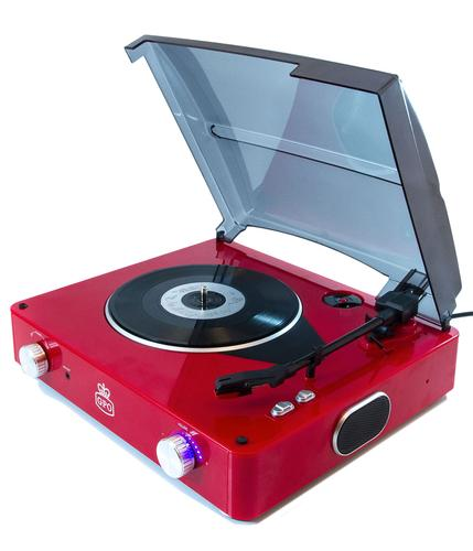 GPO RETRO RECORD PLAYER STYLE TURNTABLE RED