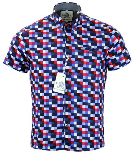 GUIDE LONDON RETRO MOD GRID CHECK SS SHIRT BLUE