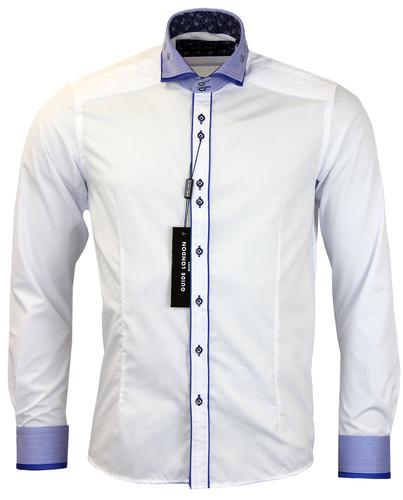 GUIDE LONDON RETRO MOD 70s SMART WHITE SHIRT