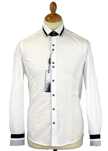 Mini Diamond Dot GUIDE LONDON Retro Mod Shirt (W)