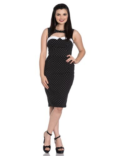 Miley HELL BUNNY Retro 50s Polka Dot Pencil Dress