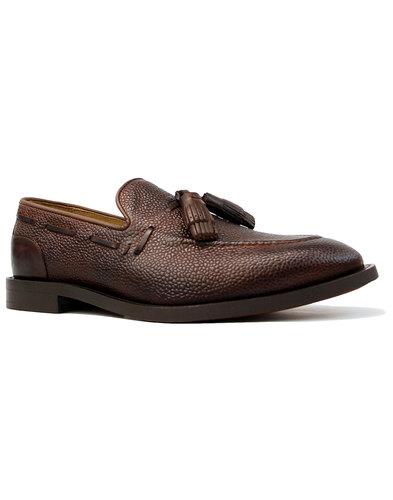 Benedict HUDSON Mod Grain Leather Tassel Loafers