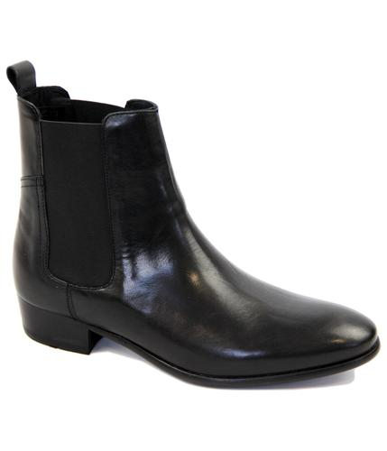 H BY HUDSON CHELSEA BOOTS MOD WATTS BLACK