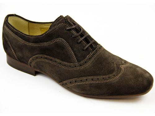 Francis H by HUDSON Retro 60s Mod Suede Brogues