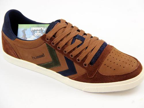 HUMMEL RETRO TRAINERS SUEDE OILED LOW 70S TRAINERS
