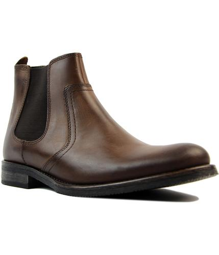 Powell IKON 1960s Mod Round Toe Chelsea Boots (DB)