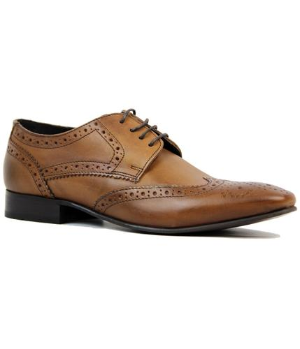 Ritchie IKON Retro Mod Square Toe Derby Brogues
