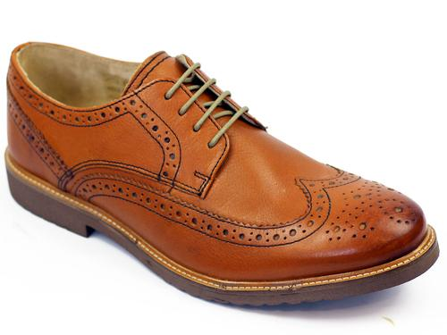 Almond IKON ORIGINAL Retro Mod Wingtip Brogues (T)