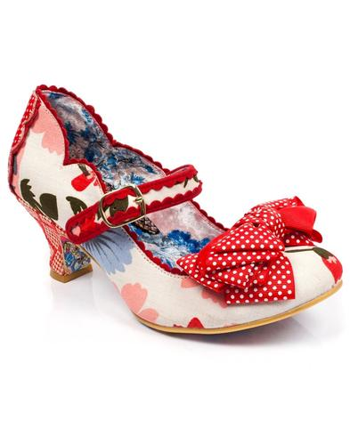 Balmy Nights IRREGULAR CHOICE Retro Shoes - White