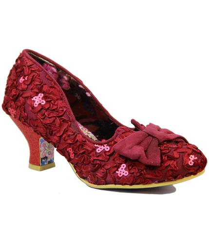 IRREGULAR CHOICE DAZZLE RAZZLE RED KITTEN HEEL