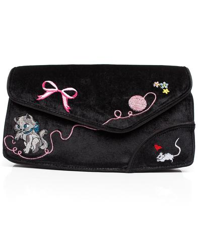 Kitty Love IRREGULAR CHOICE Clutch Bag - Black