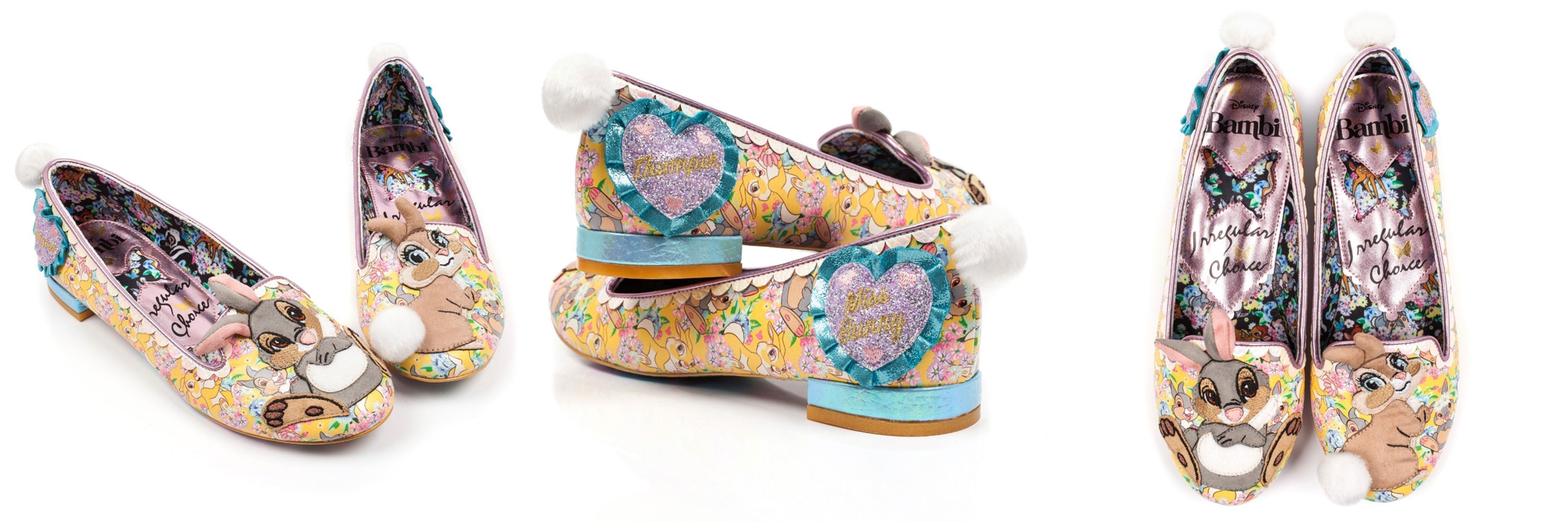 Irregular Choice x Bambi Shoes - Sweet As Can Be Thumper Flat Shoes