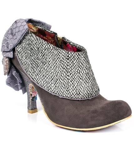 IRREGULAR CHOICE LOVE MEANS RETRO SHOE BOOTS GREY