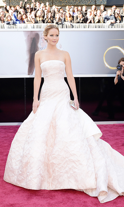 Jennifer Lawrence wears Dior Couture for the 2013 Oscars