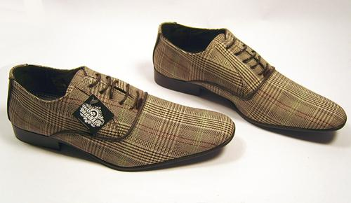 'King' -Checker Fabric Shoes by IKON ORIGINAL (BR)