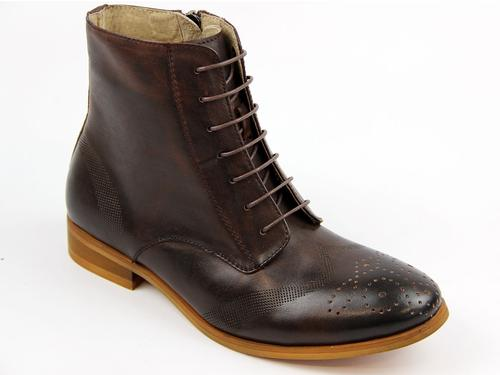Oriana LACEYS Retro 70s Lace Up Brogue Boots (DB)