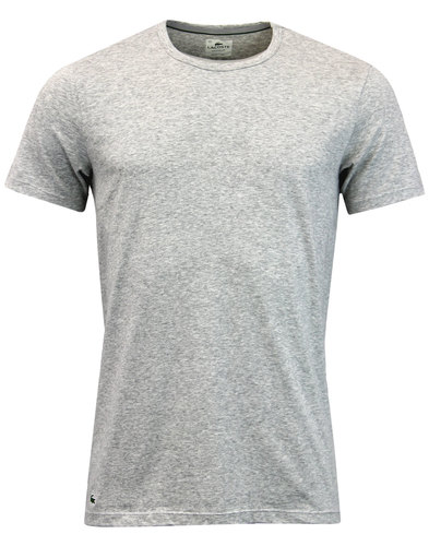 LACOSTE Men's 2 Pack Crew Neck T-Shirt - Grey Marl