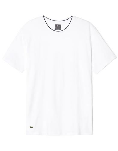 Baseline LACOSTE Mens Tipped Collar T-Shirt White