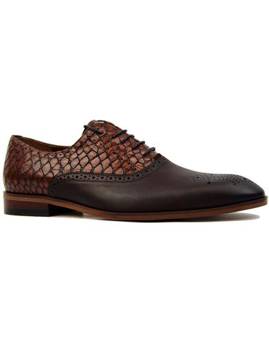 Sirhiss LACUZZO Retro Mod Snake Stamp Shoes BROWN