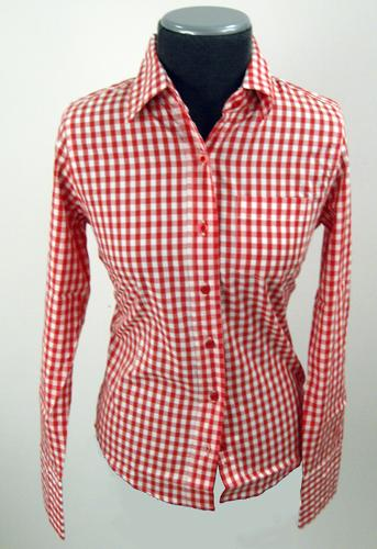 Sorry out of stock this is a vintage line which has for Red and white gingham shirt women s