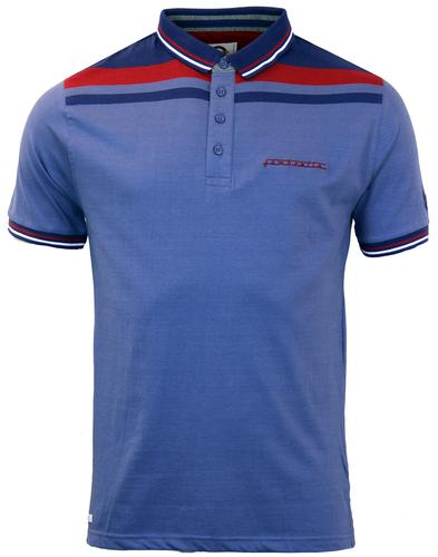 LAMBRETTA Shoulder Stripe Retro Mod Polo