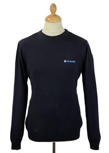 LAMBRETTA RETRO MOD NAVY CREW NECK JUMPER