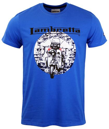 LAMBRETTA RETRO MOD SCOOTER T-SHIRT BLUE