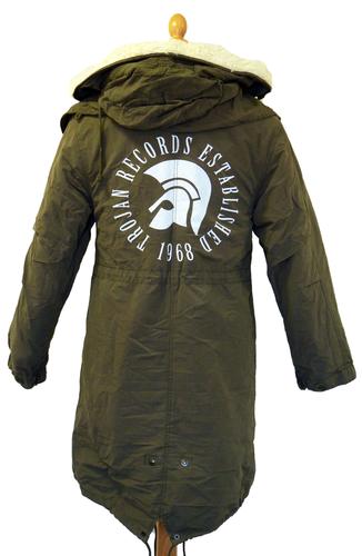 Lambretta Trojan Fishtail Parka Coat | Retro Mod Trojan Parkas