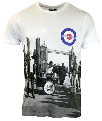 LAMBRETTA THE WHO TOWER BRIDGE RETRO MOD T-SHIRT