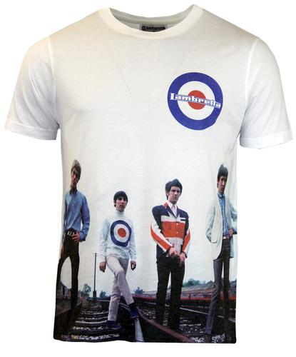 LAMBRETTA THE WHO TRAIN TRACKS RETRO MOD T-SHIRT