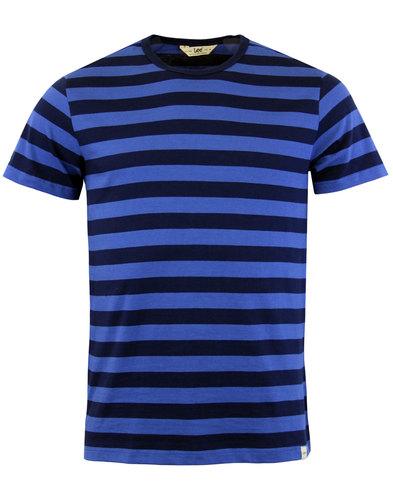 Free Shipping 100% Guaranteed Discount Purchase Bold Stripe T-Shirt - Navy Lee 8HogcSza