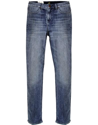 Elly LEE High Waist Slim Straight Denim Jeans (U)