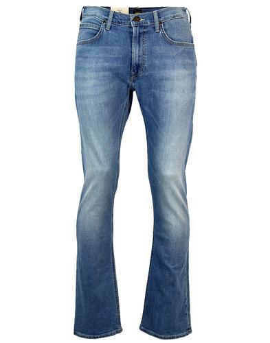 lee trenton retro 1970s mod denim bootcut jeans caribbean. Black Bedroom Furniture Sets. Home Design Ideas