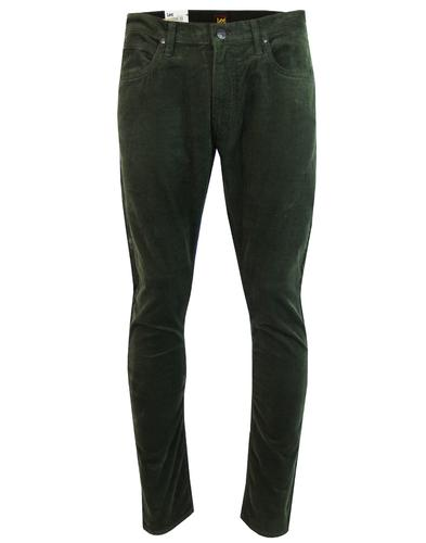 Luke LEE Retro Mod Slim Tapered Cord Jeans GREEN