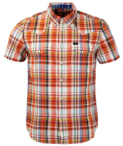 LEE JEANS MENS WESTERN CHECK SHIRT