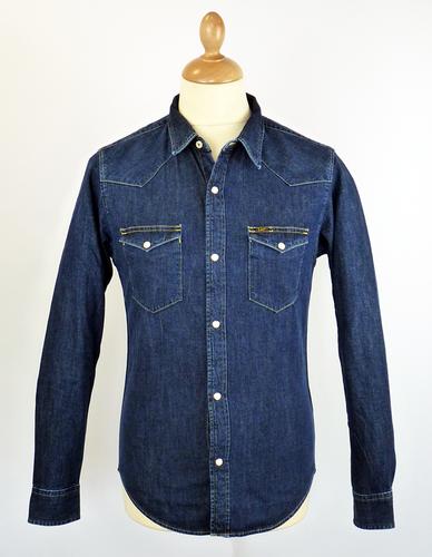 d00b3782cd LEE Slim Fit Retro Indie Mod Denim Western Shirt Dark Stone