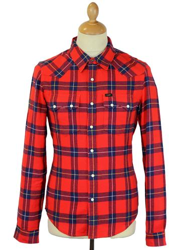 LEE Rider Retro Mod Brushed Cotton Check Shirt PR