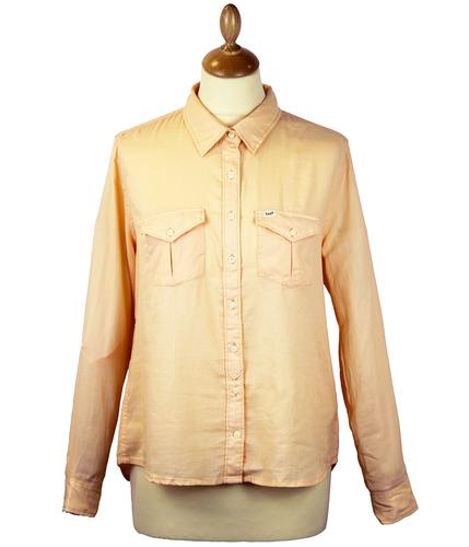 LEE JEANS WOMENS SLOUCHY RETRO SHIRT PEACH
