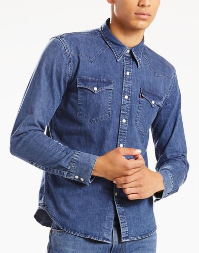 Barstow LEVI'S Retro Brooklyn Stretch Denim Shirt